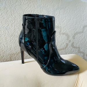 New Patent Leather Heel Bootie 6